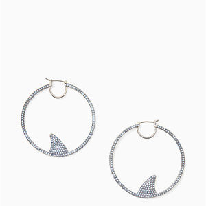 KATE SPADE California Dreaming Shark Hoop Earrings